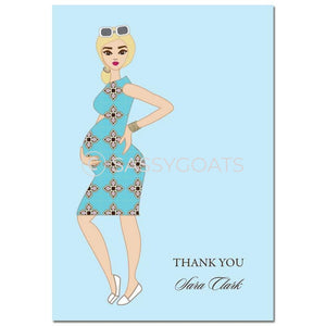 Baby Shower Thank You Card - Dining Diva Blonde