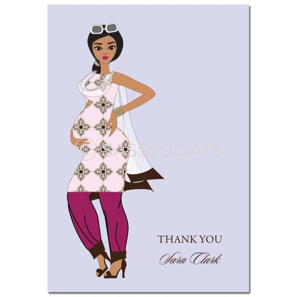 Baby Shower Thank You Card - Dining Diva South Asian