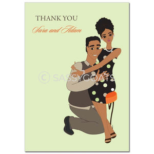 Baby Shower Thank You Card - Hugs African American