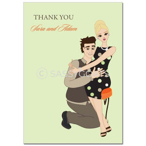 Baby Shower Thank You Card - Hugs Blonde