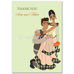 Baby Shower Thank You Card - Hugs South Asian