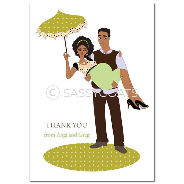 Baby Shower Thank You Card - Mommy Cargo African American