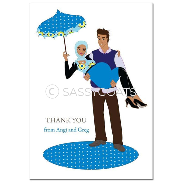 Baby Shower Thank You Card - Mommy Cargo Headscarf Hijab