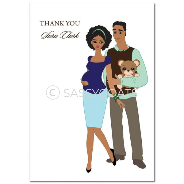 Baby Shower Thank You Card - Shelf African American