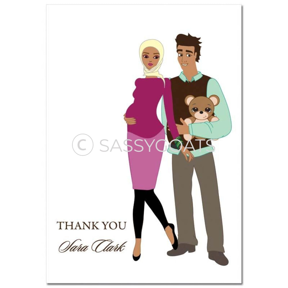 Baby Shower Thank You Card - Shelf Headscarf Hijab