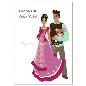 Baby Shower Thank You Card - Shelf South Asian