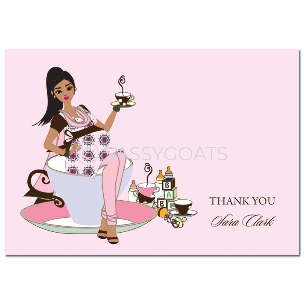 Baby Shower Thank You Card - Teacup Mommy South Asian