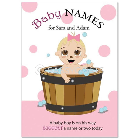 Blonde Baby Shower Games - Bucket Name Suggestions