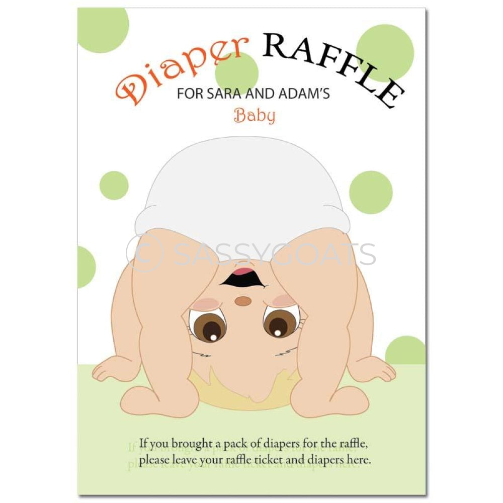 Blonde Baby Shower Games - Bum Diaper Raffle