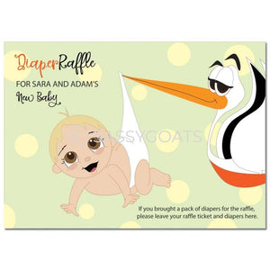 Blonde Baby Shower Games - Stork Dropoff Diaper Raffle