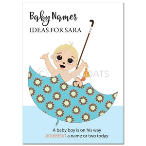 Blonde Baby Shower Games - Umbrella Name Suggestions