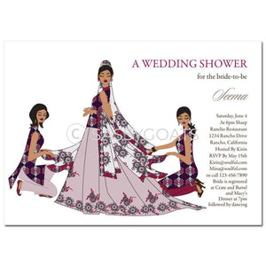Bridal Shower Dholki Invitation - Party Divas Indian
