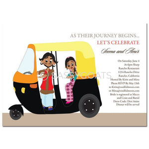 Bridal Shower Dholki Invitation - Rickshaw Fun Indian