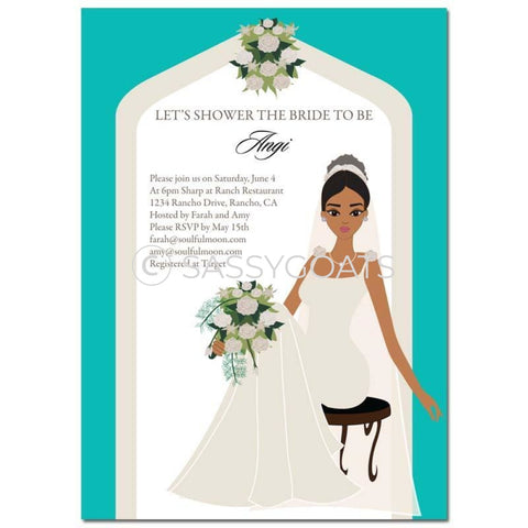 Bridal Shower Invitation - Arch Diva African American