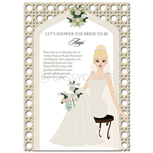 Bridal Shower Invitation - Arch Diva Blonde