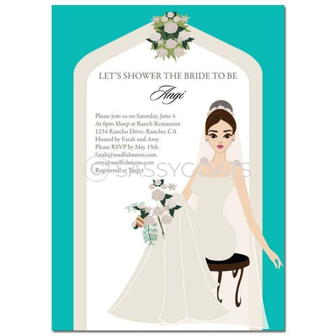 Bridal Shower Invitation - Arch Diva Brunette