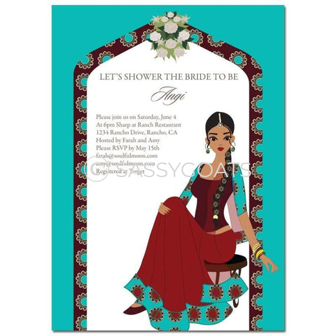 Bridal Shower Invitation - Arch Diva Indian