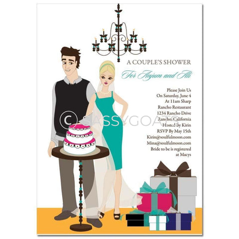 Bridal Shower Invitation - Back To Couple Blonde