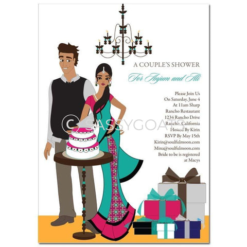 Bridal Shower Invitation - Back To Couple Indian