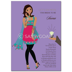 Bridal Shower Invitation - Bashful Diva Indian