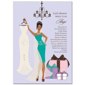 Bridal Shower Invitation - Clothes African American