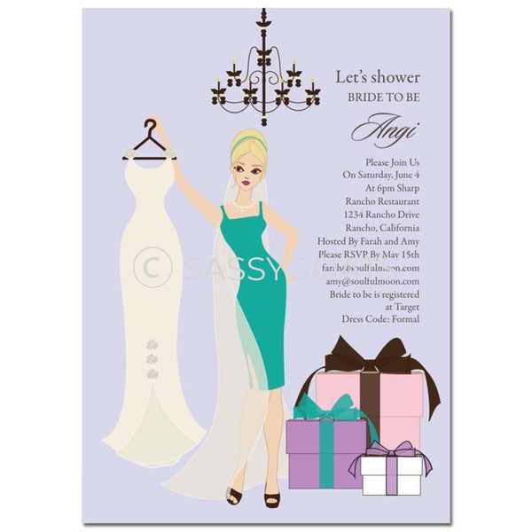 Bridal Shower Invitation - Clothes Blonde