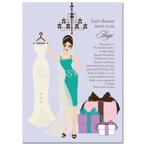 Bridal Shower Invitation - Clothes Brunette