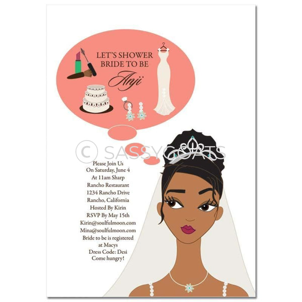 Bridal Shower Invitation - Planner African American