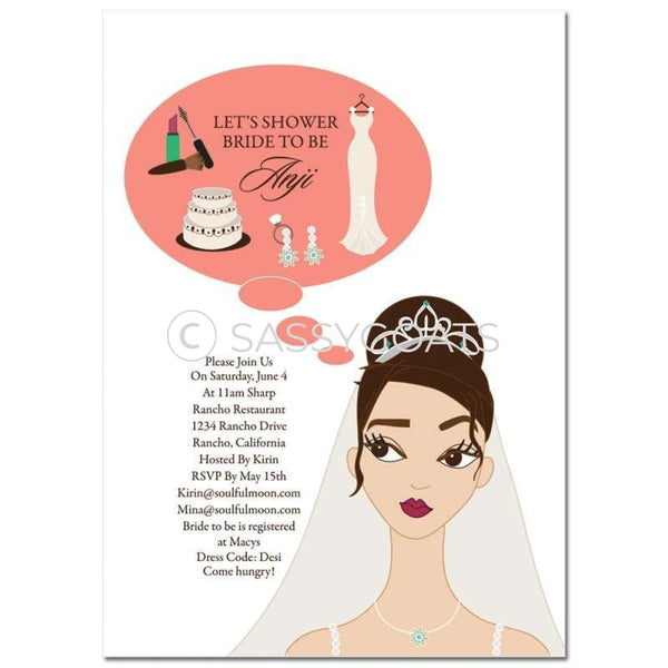Bridal Shower Invitation - Planner Brunette