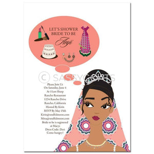 Bridal Shower Invitation - Planner Indian