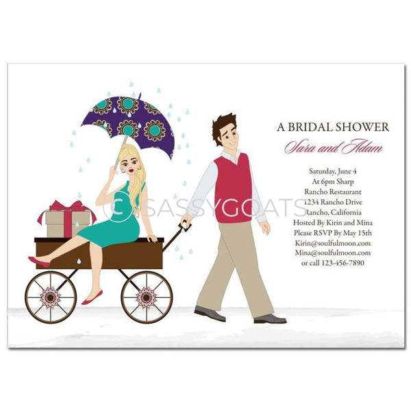 Bridal Shower Invitation - Wagon Diva Blonde