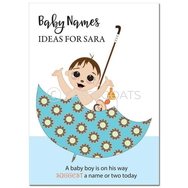 Brunette Baby Shower Games - Bucket Name Suggestions