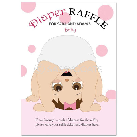 Brunette Baby Shower Games - Bum Diaper Raffle