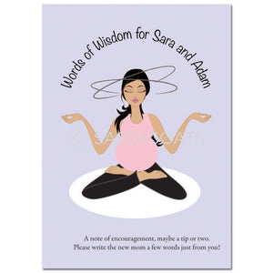 Brunette Baby Shower Games - Meditating Mommy
