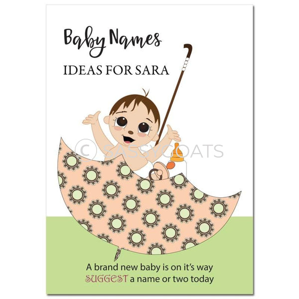 Brunette Baby Shower Games - Umbrella Name Suggestions
