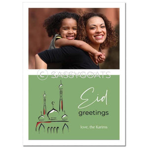 Eid Photocard - Abstract Mosque