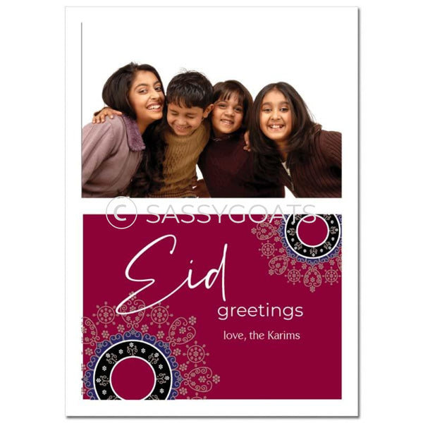 Eid Photocard - Filigree Split