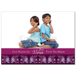 Eid Photocard - Peacocks