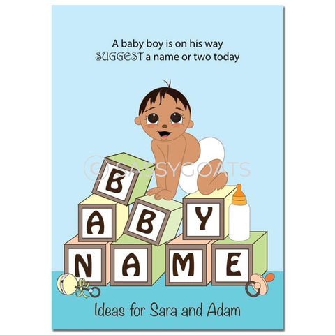Indian Baby Shower Games - Blocks Name Suggestions