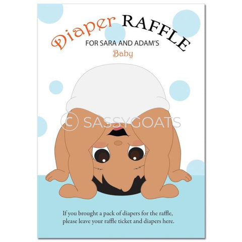 Indian Baby Shower Games - Bum Diaper Raffle