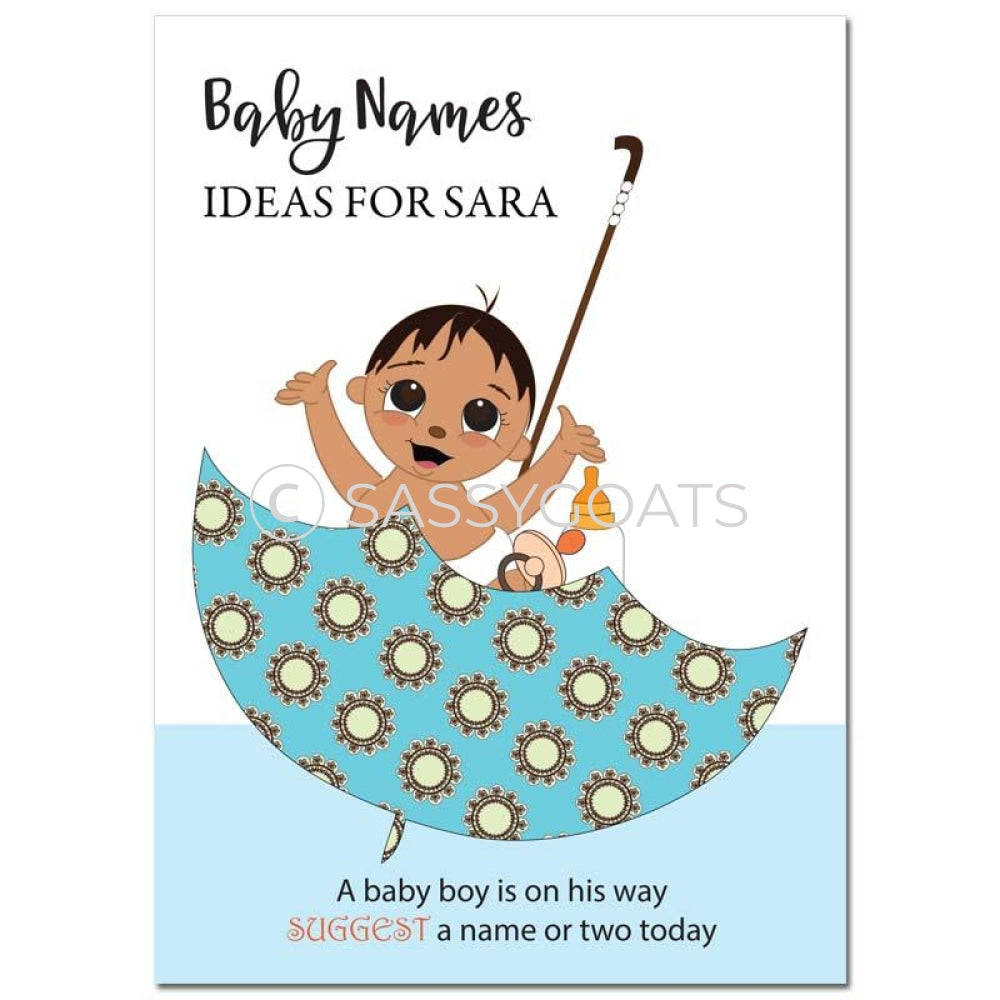 Indian Baby Shower Games - Umbrella Name Suggestions