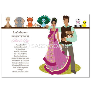 Indian Baby Shower Invitation - Shelf