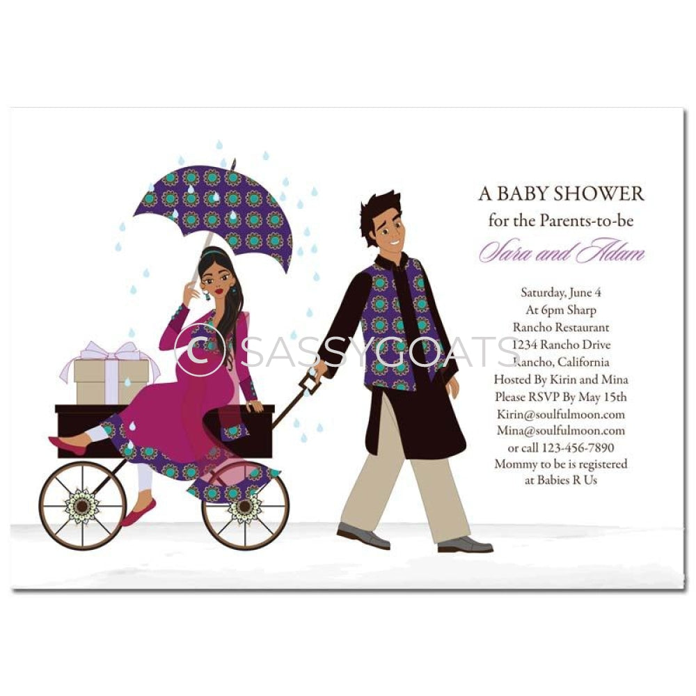 Indian Baby Shower Invitation - Wagon Diva