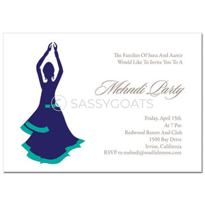 Indian Mehndi Invitation - Dancers