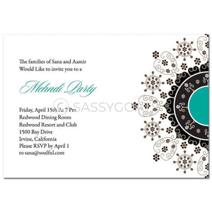 Indian Mehndi Invitation - Enchanting Emblem