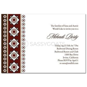 Indian Mehndi Invitation - Magestic Tile