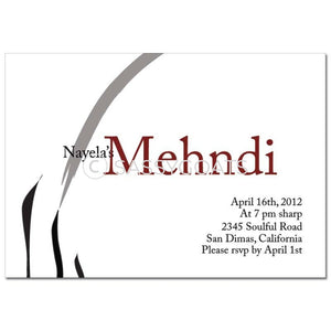 Indian Mehndi Invitation - Nikaah Flourish