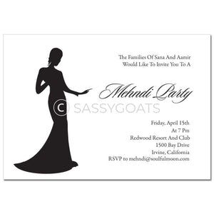 Indian Mehndi Invitation - Regal Silhouette