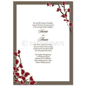Indian Wedding Invitation - Arabic Stems