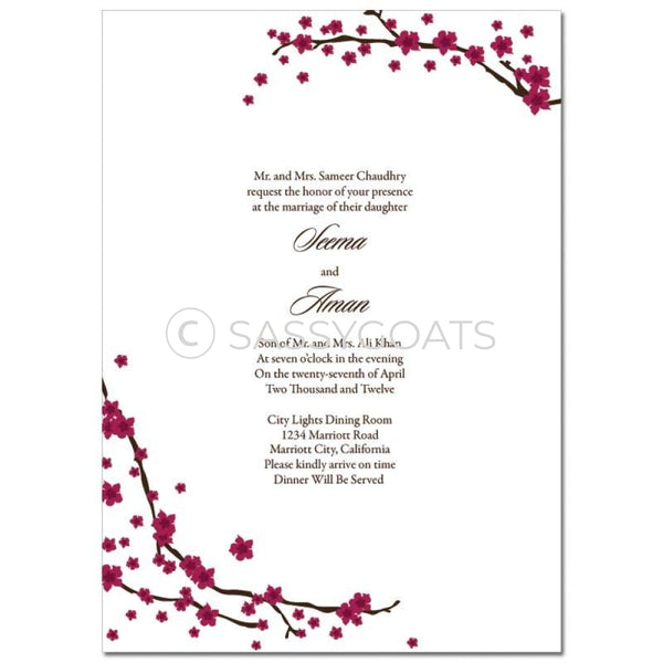 Indian Wedding Invitation - Branches